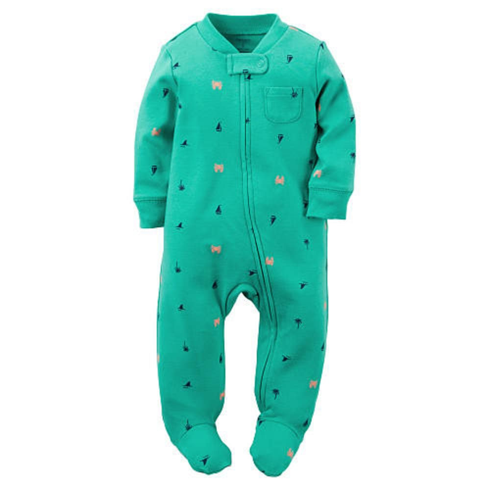 CARTERS Boys' Palm Tree Onesie - MEDIUM GREEN