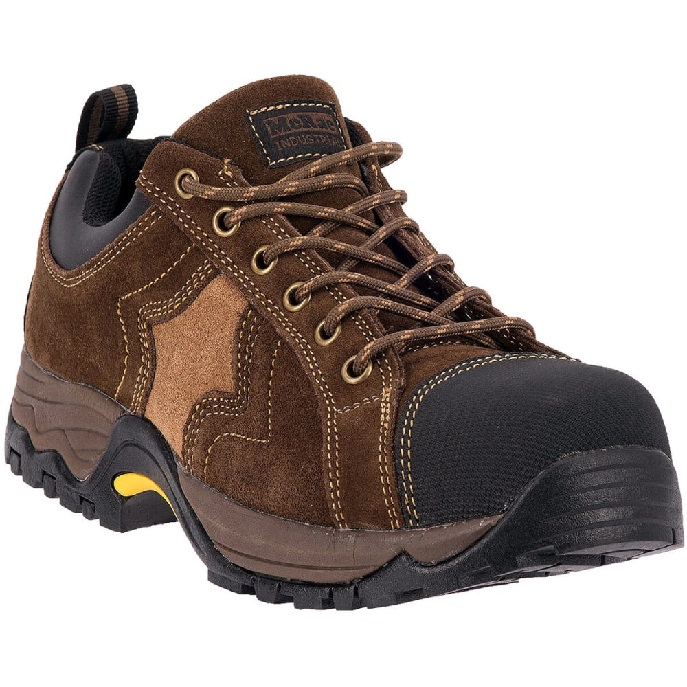 MCRAE Men's Low Composite Toe Boots, Wide - BROWN