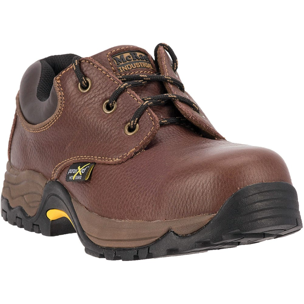 MCRAE Men's Steel Toe XRD Metatarsal Guard Shoes, Wide - BROWN