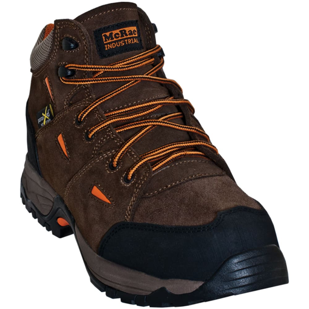 MCRAE Men's composite Toe Metatarsal Guard Boots, Wide - BROWN