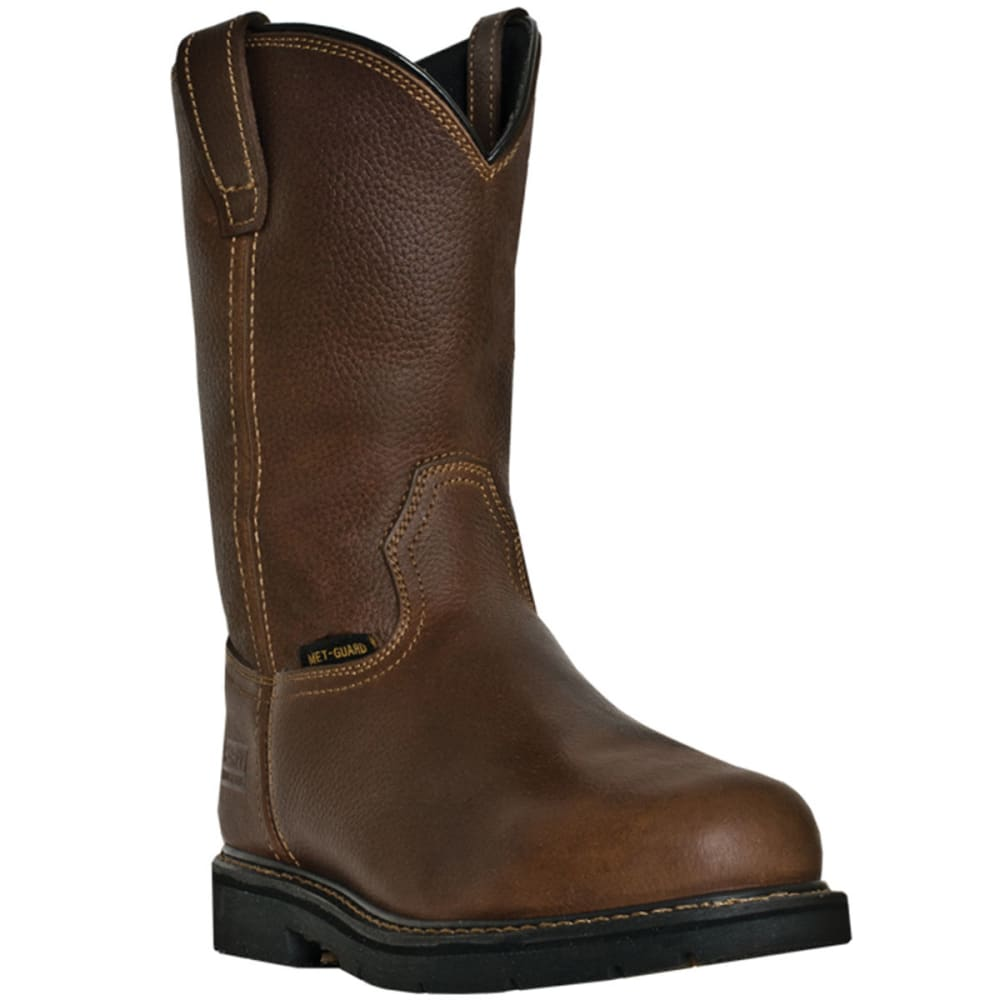 MCRAE Men's 11'' Western Steel Toe Metatarsal Guard Boots, Wide - BROWN