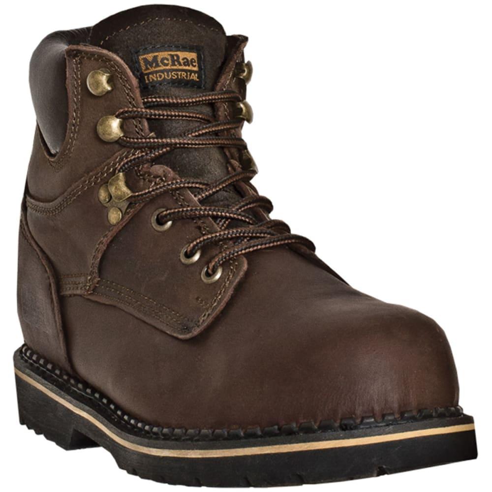 MCRAE Men's 6'' Lace Up Boots - BROWN