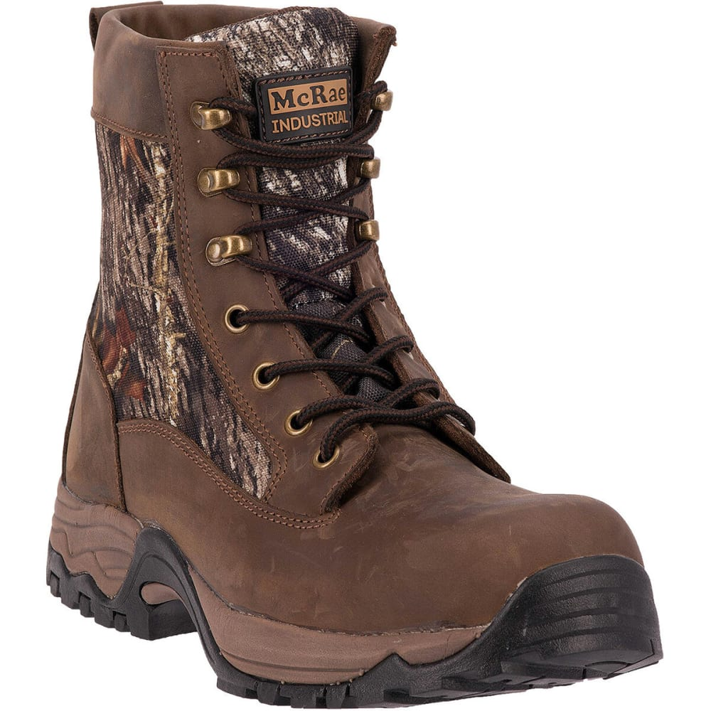 MCRAE Men's 7'' Composite Toe Boots, Wide - MOSSY OAK