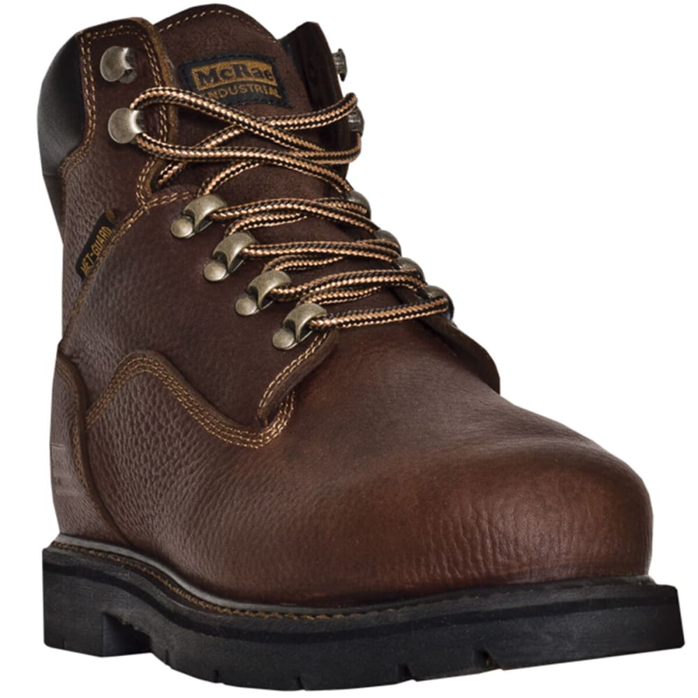 MCRAE Men's 6'' Metatarsal Lace Up Boot, Wide - BROWN