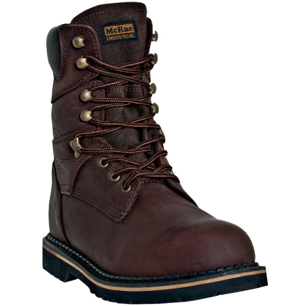 MCRAE Men's 8'' Lace Up Boot - BROWN