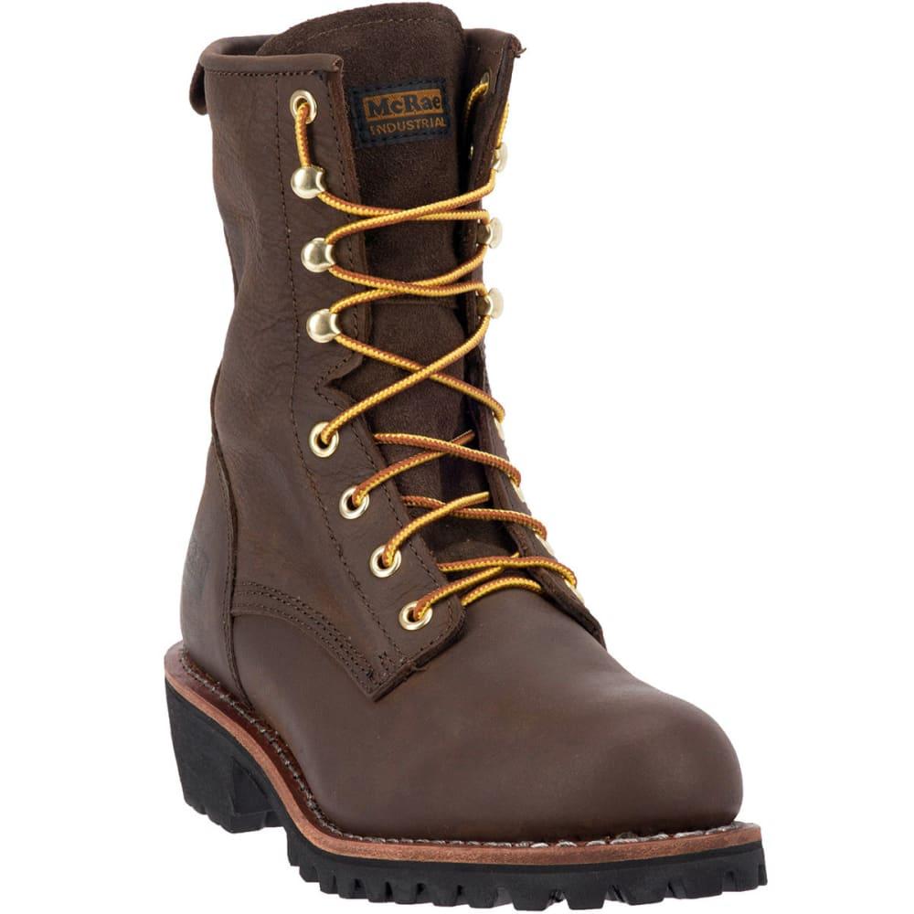 MCRAE Men's 8'' Logger Boot - BROWN