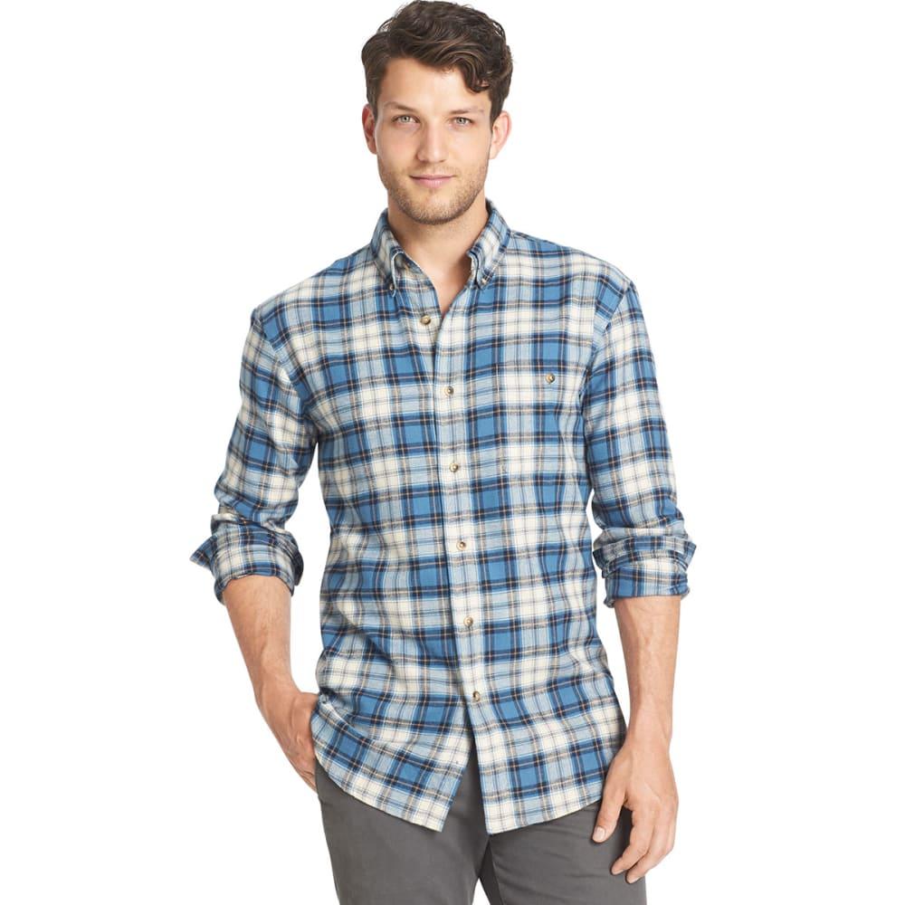 G.H. BASS & CO. Men's Flannel Shirt - INDIGO SKY