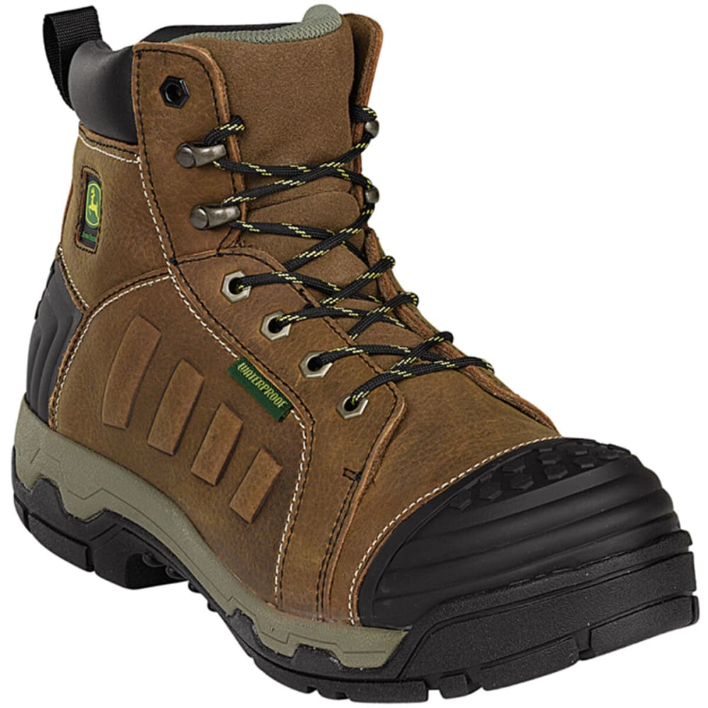 "JOHN DEERE Men's WCT II 6"" WP Aluminum Alloy Toe Work Boot, Wide - TAN"