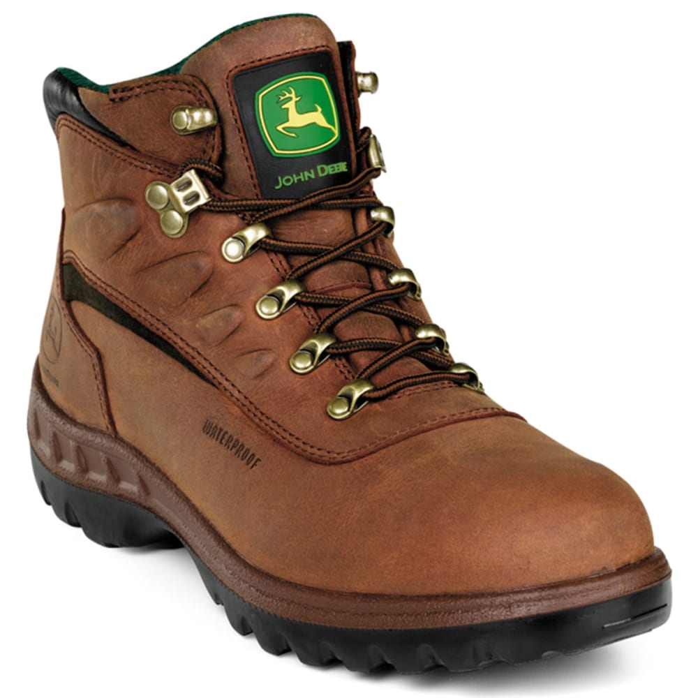 "JOHN DEERE Men's 5"" WP ST Work Boots - TAN"