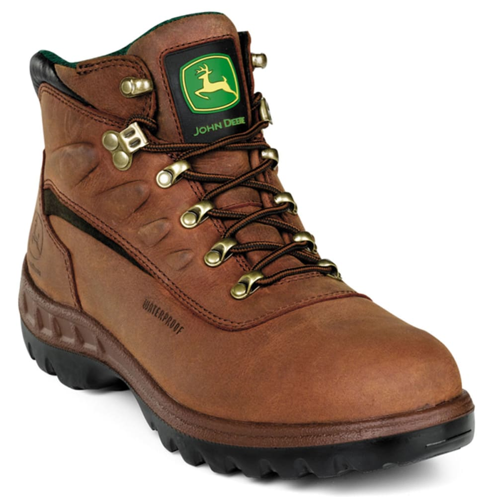 "JOHN DEERE Men's 5"" WP ST Work Boots, Wide - TAN"