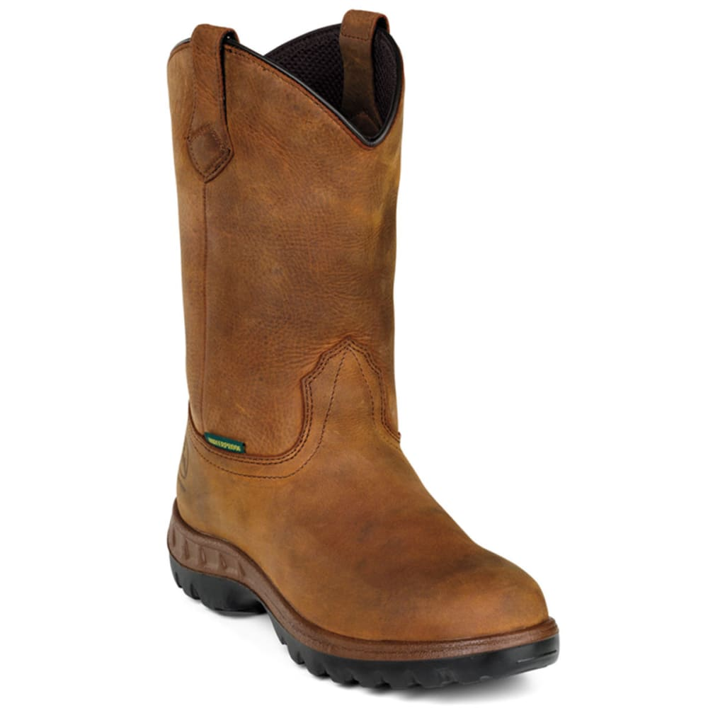 "JOHN DEERE Men's WCT 12"" Waterproof Wellingtons, Wide - TAN"
