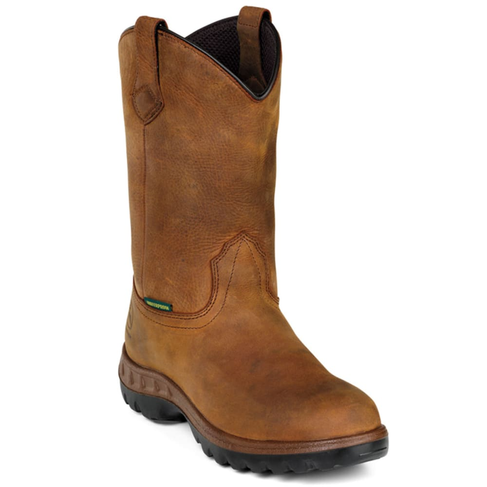 "JOHN DEERE Men's WCT 12"" Waterproof Steel Toe, Wide - TAN"