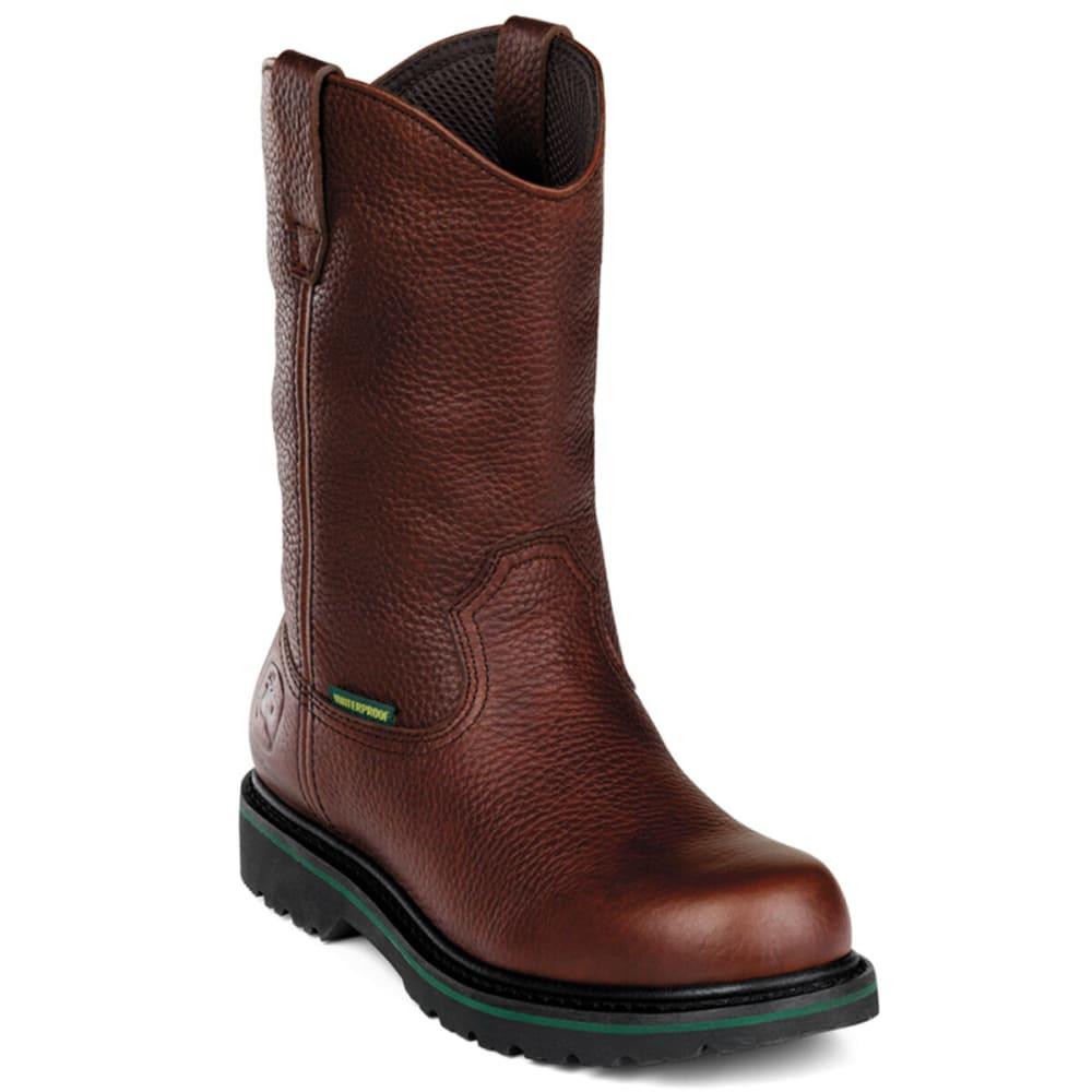 "JOHN DEERE Men's 10"" Waterproof Steel Toe Boot - DARK BROWN"