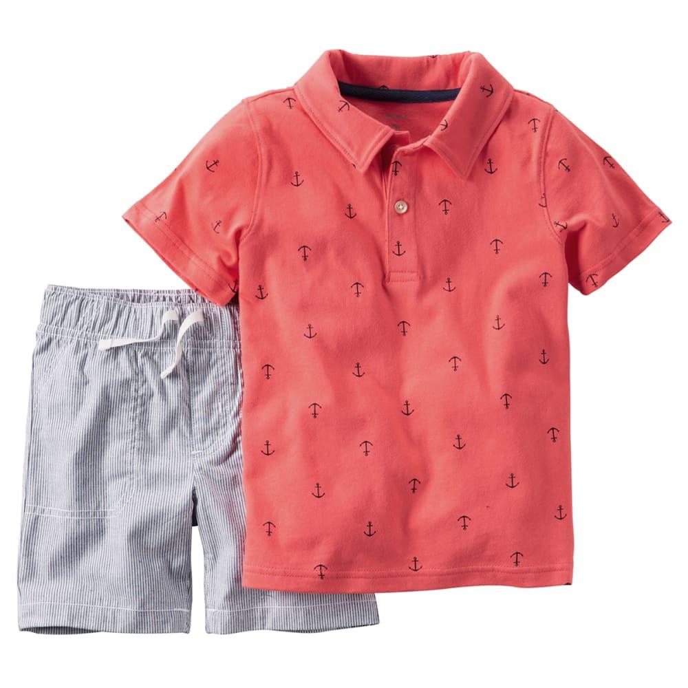 CARTER'S Baby Boys' Anchor Polo & Shorts 2-Piece Set - RED