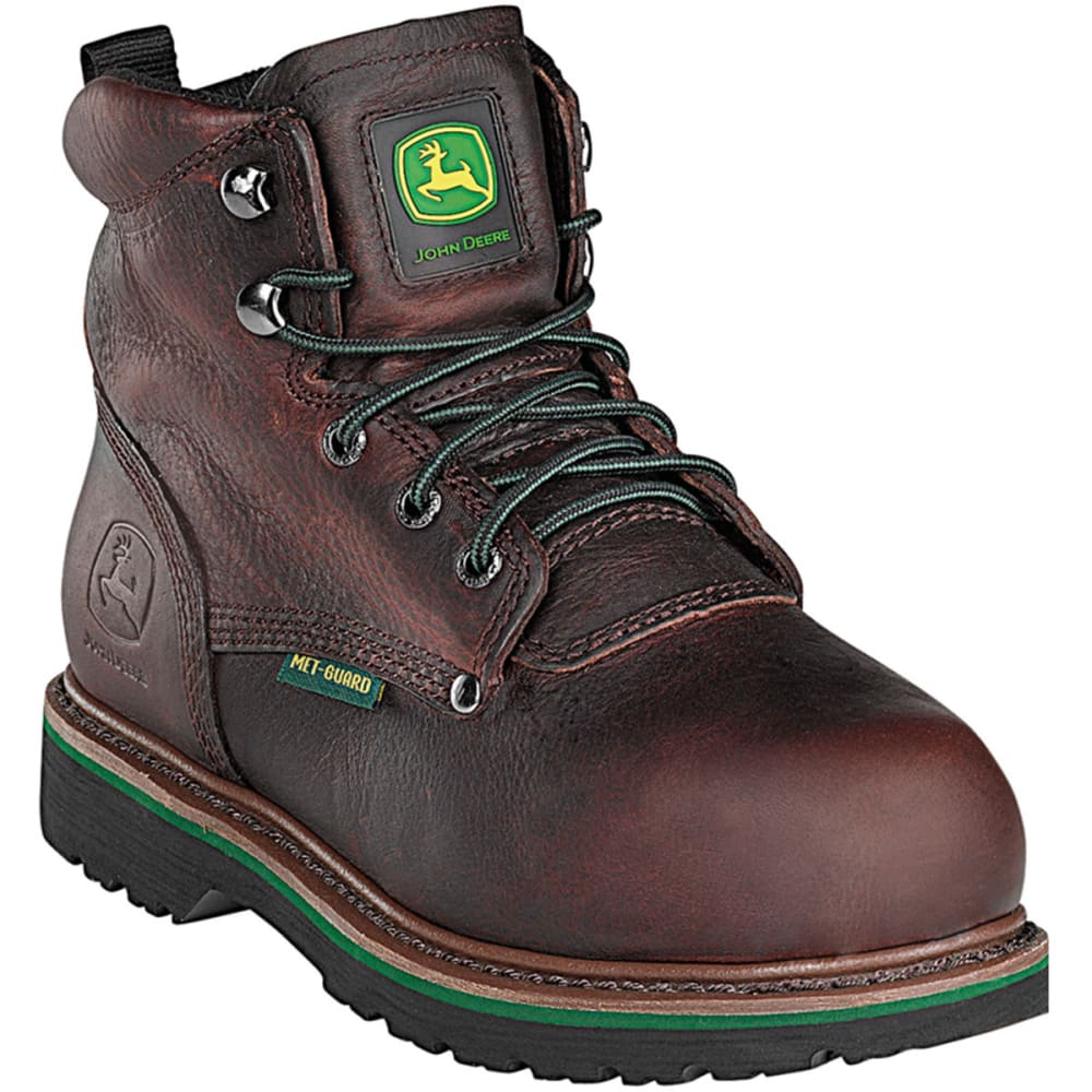 """JOHN DEERE Men's 6"""" Steel Toe Lace-Up Boot - DARK BROWN"""