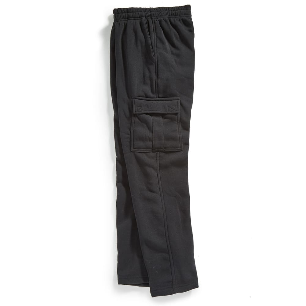 NOTHING BUT NET Guys' Fleece Cargo Pants - BLACK