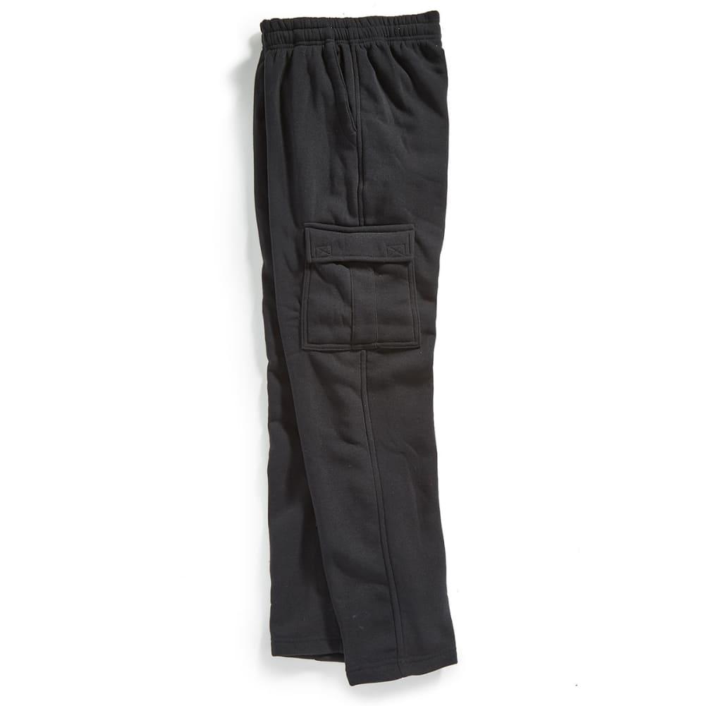NOTHING BUT NET Guys' Fleece Cargo Pants - BLACK