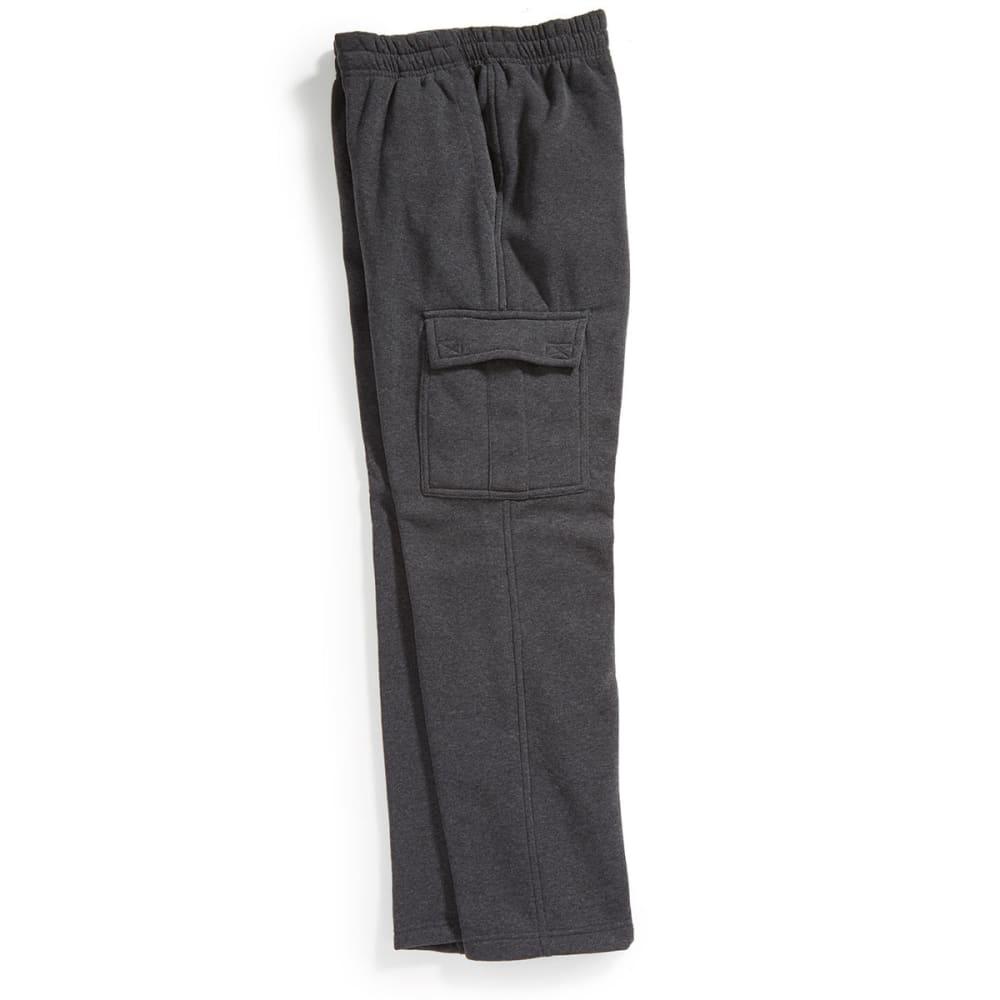 NOTHING BUT NET Guys' Fleece Cargo Pants - DK HTR GRY