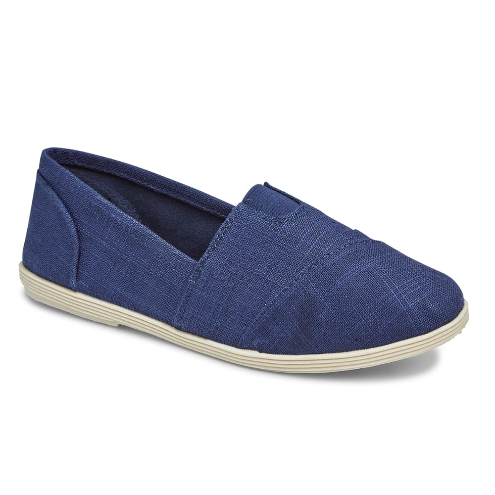 SODA Women's Round Toe Flats - NAVY