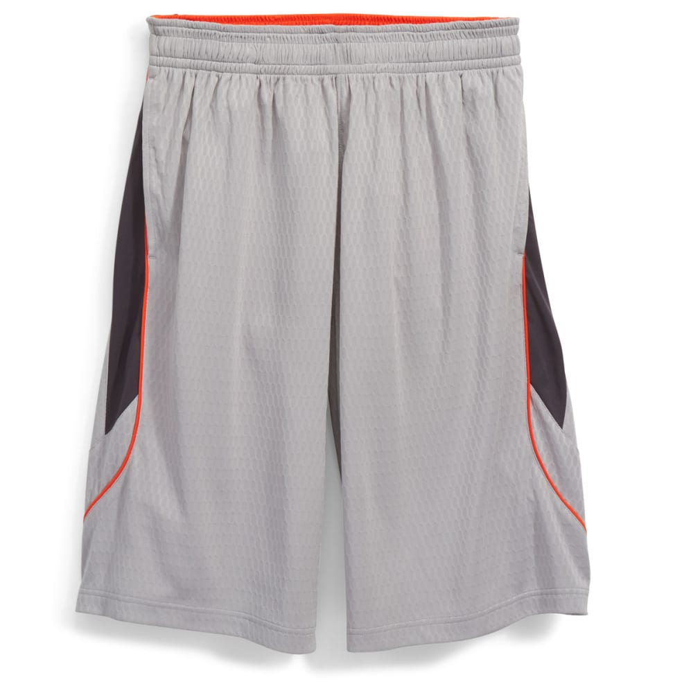 AND1 Men's Fiasco Honeycomb Mesh Dazzle Shorts - CEMENT-002