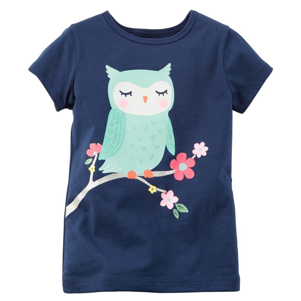 CARTER'S Toddler Girls' Owl Tee - NAVY