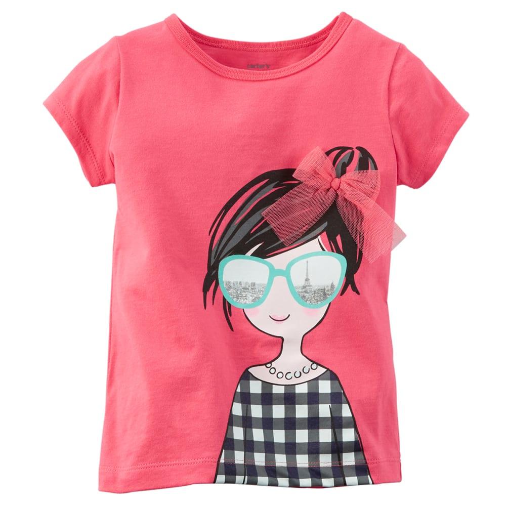 CARTER'S Toddler Girls' Cute Girl Tee - DARK PINK