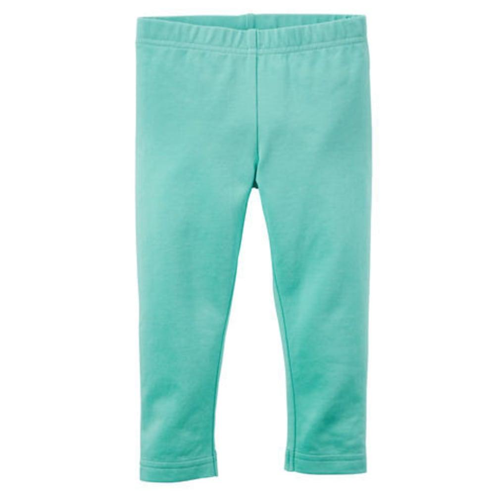 CARTERS Toddler Girls' Solid Capri Leggings - TURQUOISE