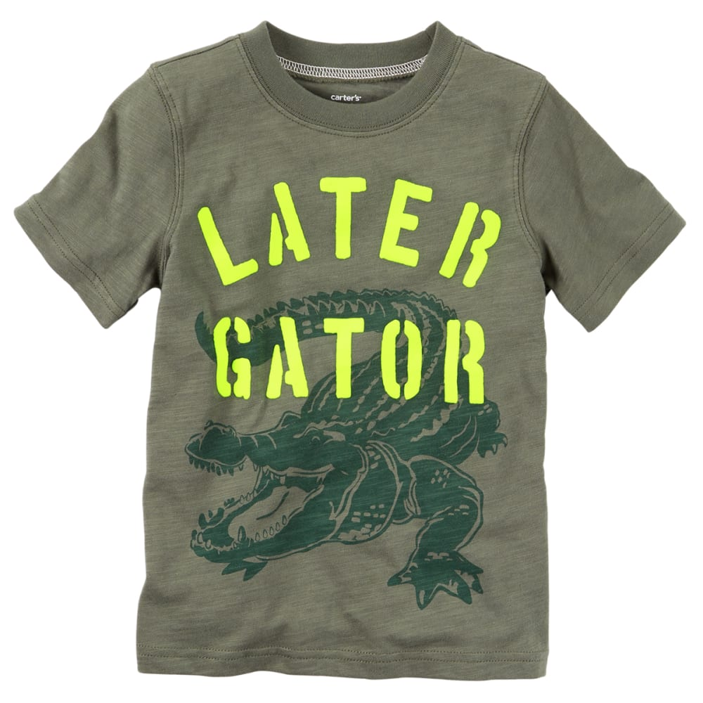 CARTER'S Toddler Boys' Later Gator Tee - OLIVE GREEN