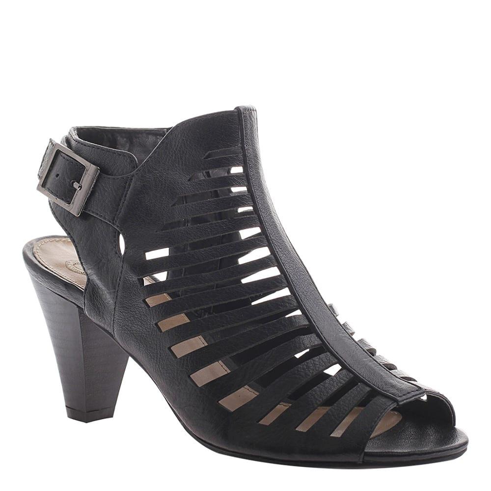 MADELINE Women's Wellington Heeled Bootie Sandals - BLACK