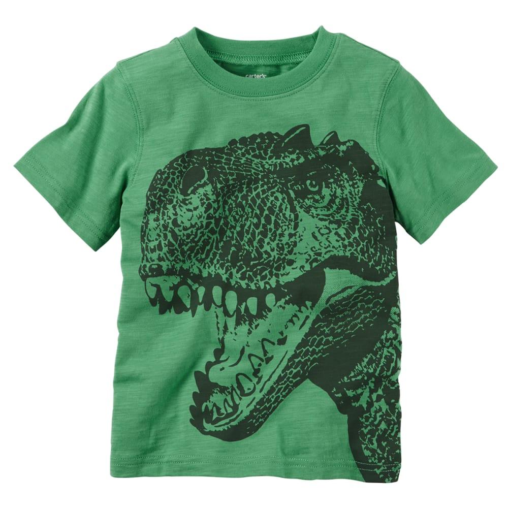 CARTER'S Toddler Boys' Dinosaur Tee - MEDIUM GREEN