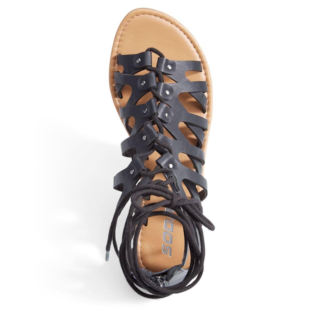 SODA Women's Gilly Gladiator Sandals - BLACK
