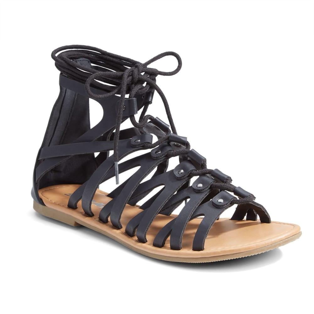 SODA Women's Gilly Gladiator Sandals - BLACK