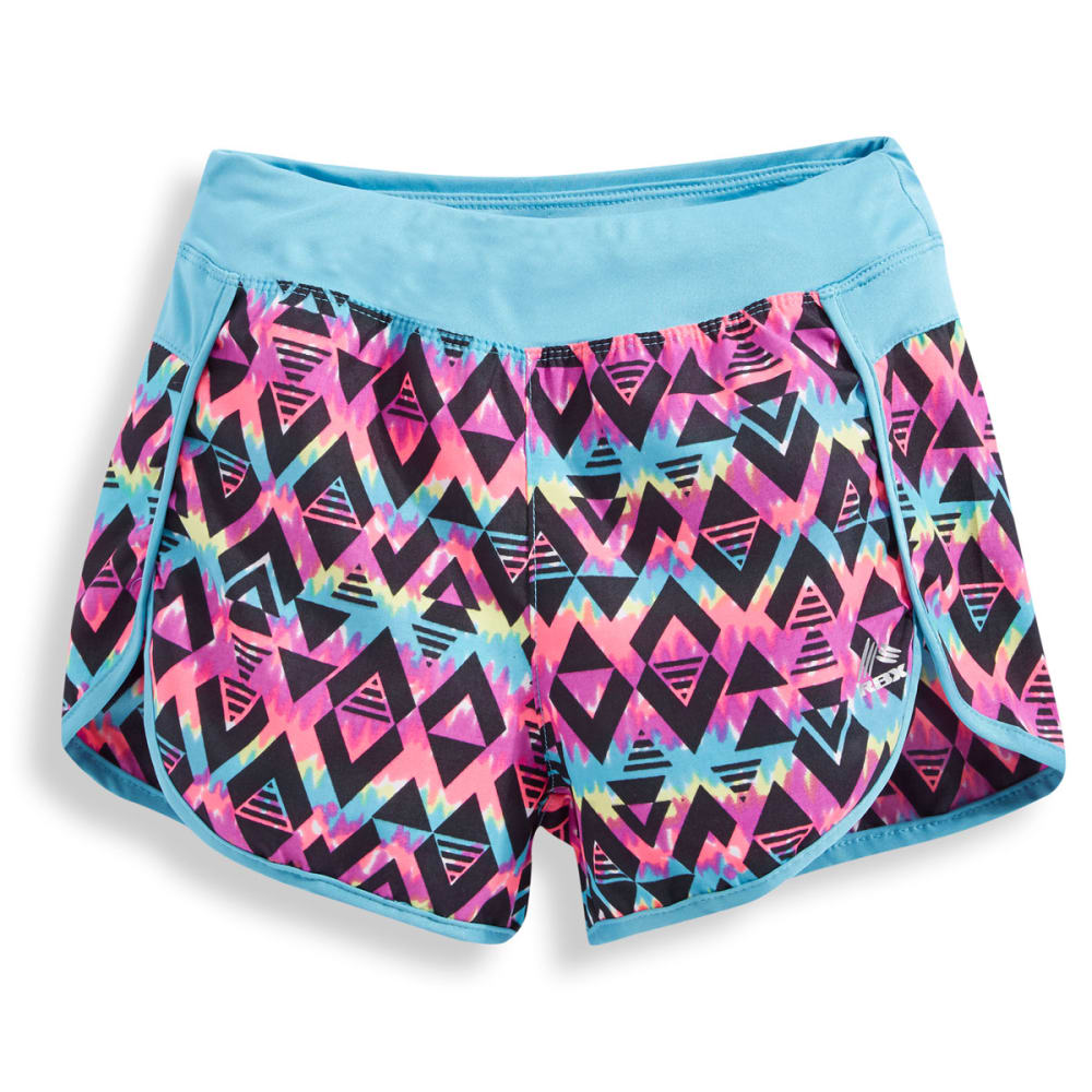 RBX Girls' Aztec Print Tempo Shorts - MULTI