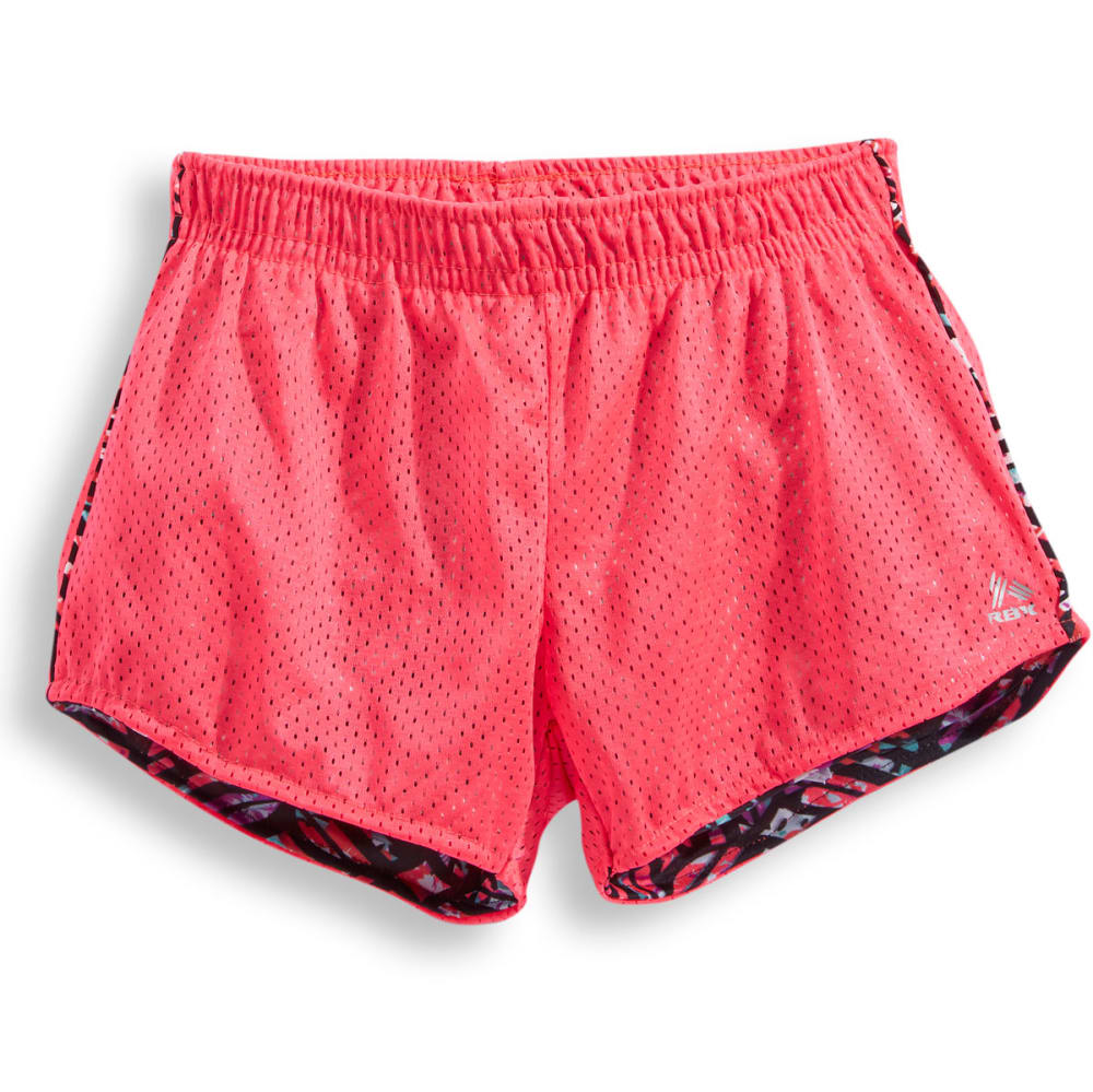 RBX Girls' Solid Mesh Shorts - KNOCKOUT PINK