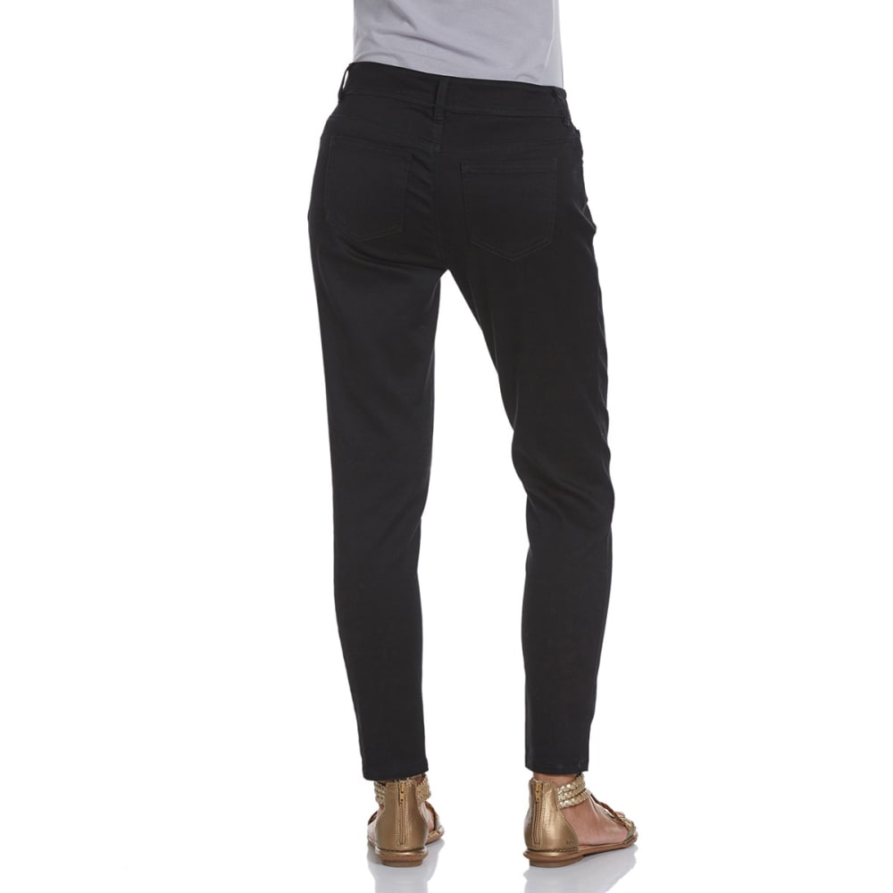 BACCINI Women's 5-Pocket Skinny Ankle Pants - BLACK