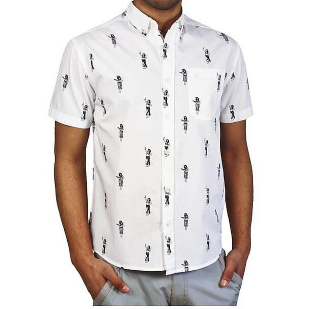 ALPHA BETA Men's Slim Fit Hula Dancers Shirt - WHITE