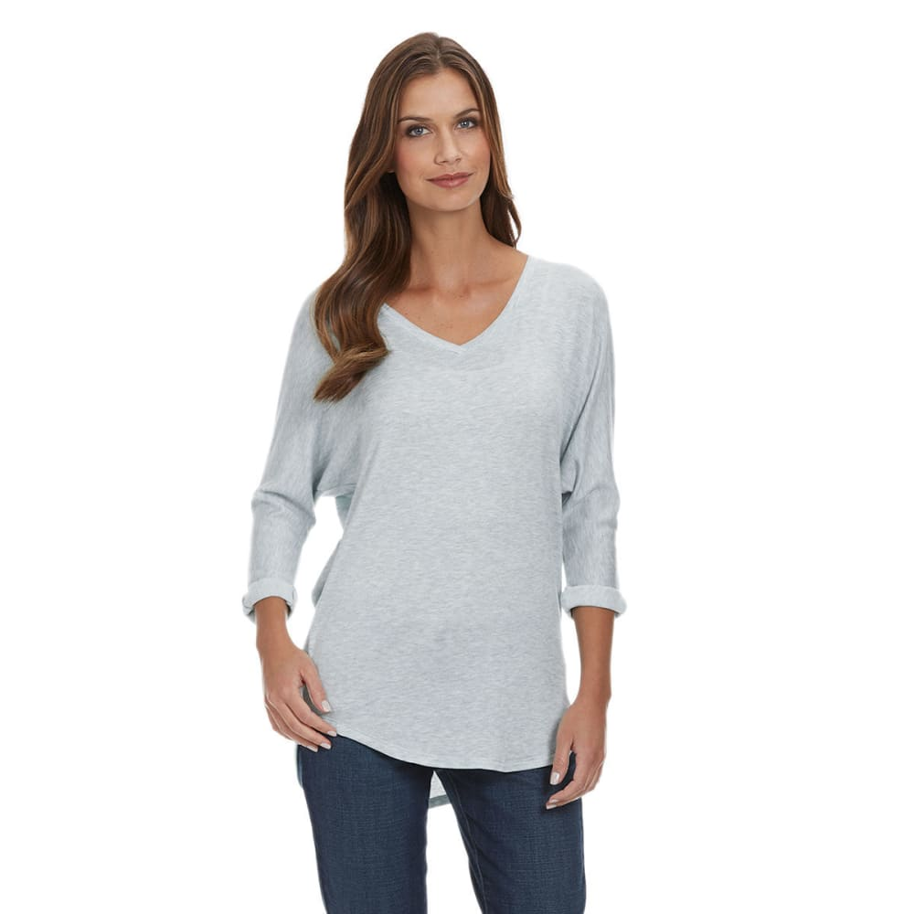 TRESICS FEMME Women's V-Neck Dolman Tunic - HEATHER GREY
