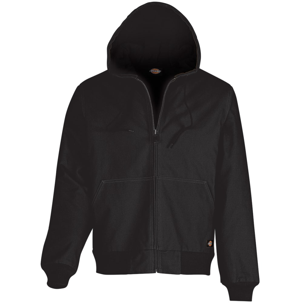 DICKIES Men's Sanded Duck Hooded Jacket - BK BLACK