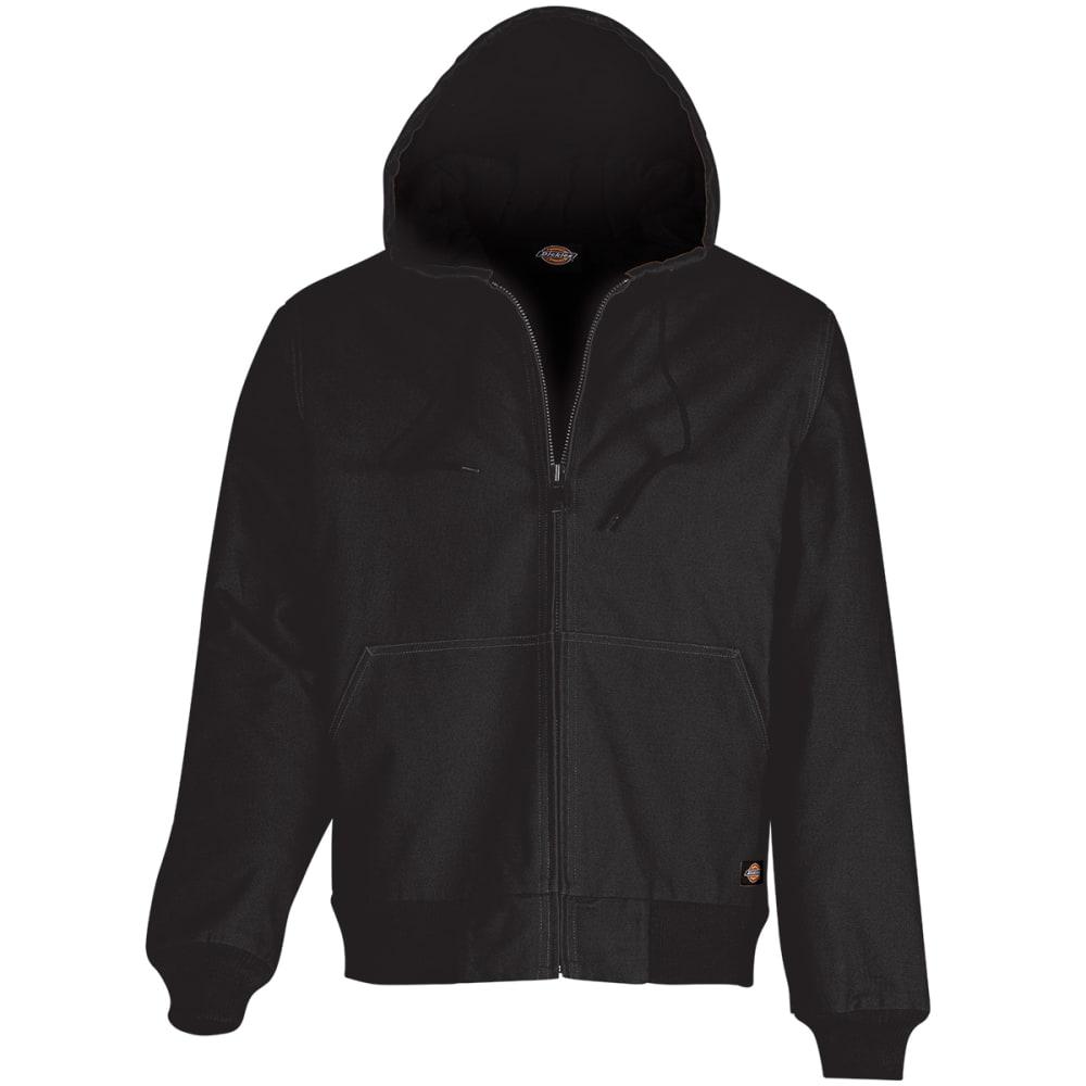 DICKIES Men's Sanded Duck Hooded Jacket - BK BLACK