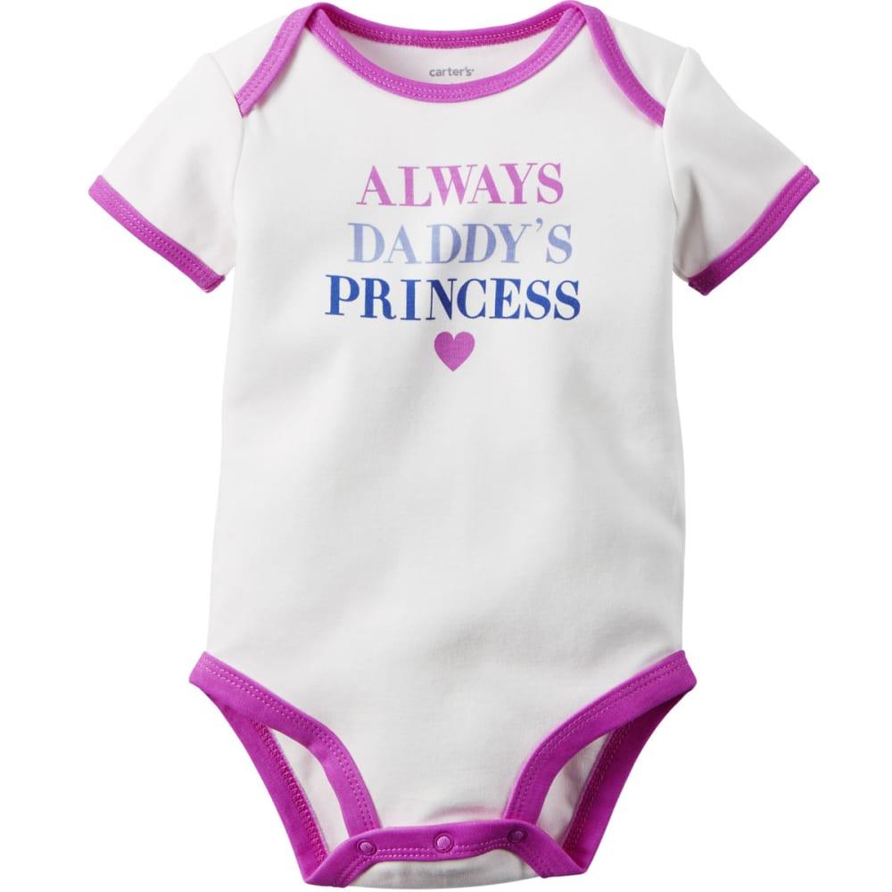 "CARTER'S Infant Girls' Short-Sleeve ""Always Daddy's Princess"" Slogan Bodysuit - IVORY-BONE"