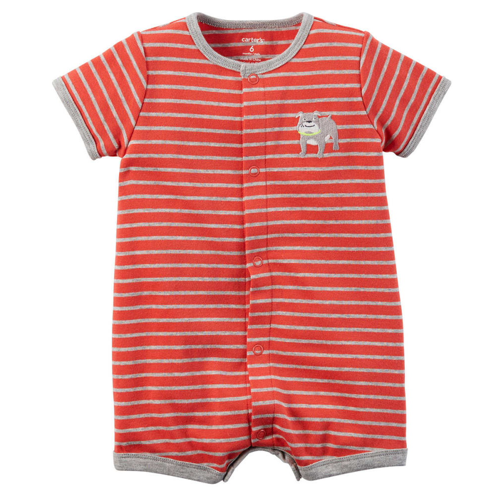 CARTERS Boys' Dog Romper - RED
