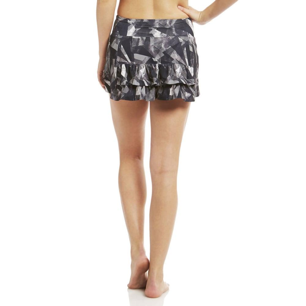 MARIKA Women's Knit Ruffle Skort - BLACK/WHTE-017