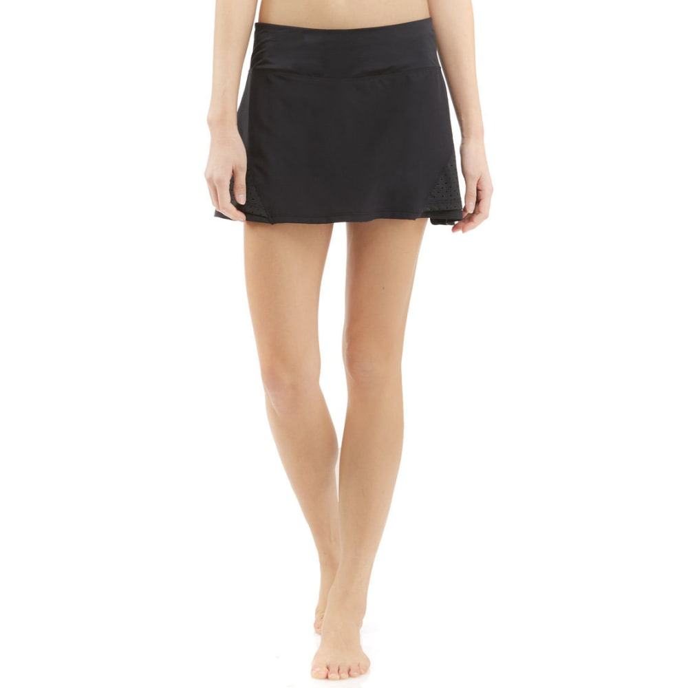 MARIKA Women's Perforated Pieced Skort - BLACK-001
