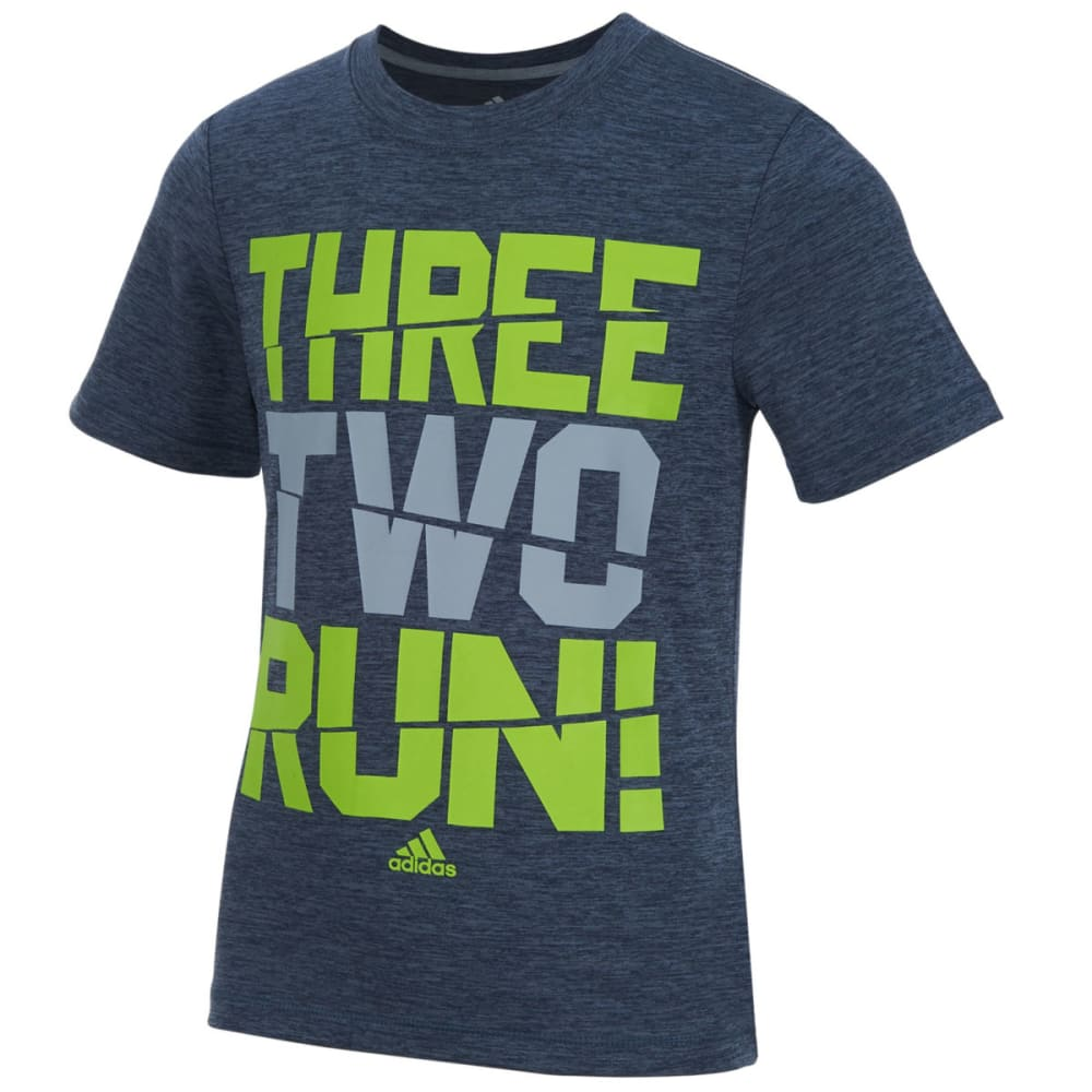 ADIDAS Boys' Three Two Run Tee - MERC/SOL H04H-021