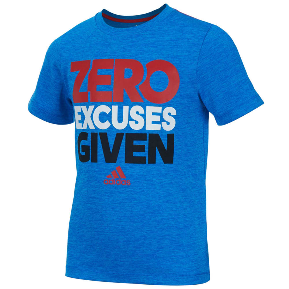 Adidas Boys' Zero Excuses Tee - Blue, 4