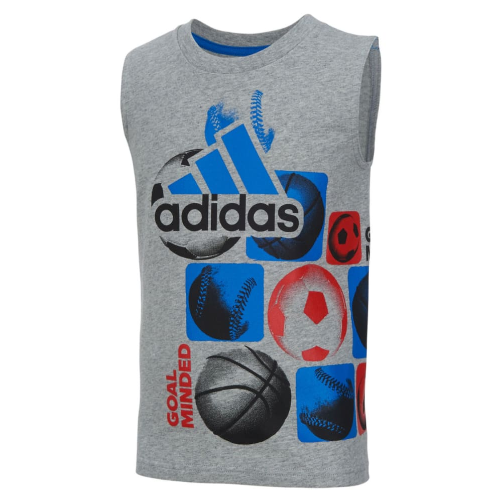 Adidas Boys Sleeveless Goal Tee - Black, 4