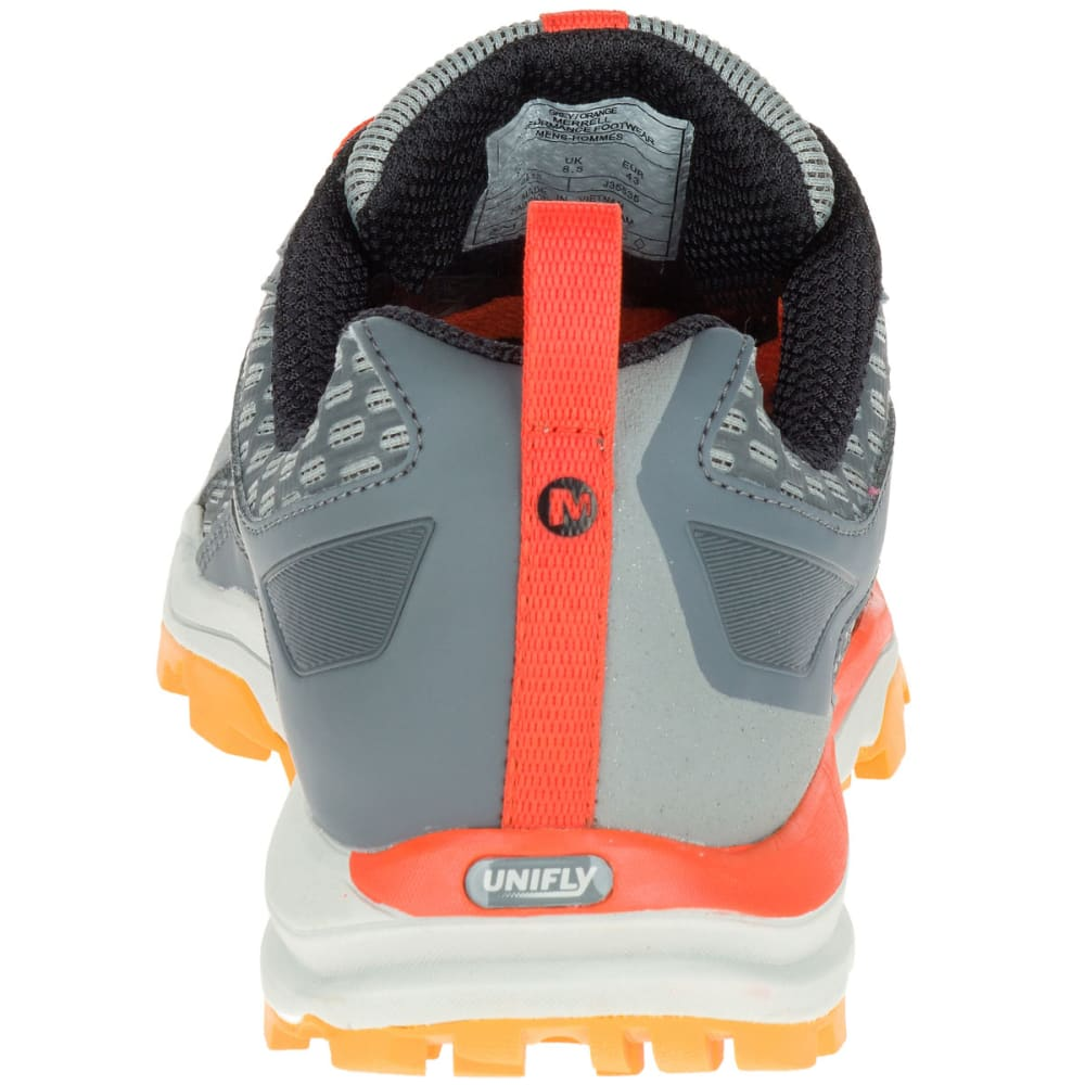 MERRELL Men's All Out Crush Trail Running Shoes, Grey/Orange - GREY/ORANGE