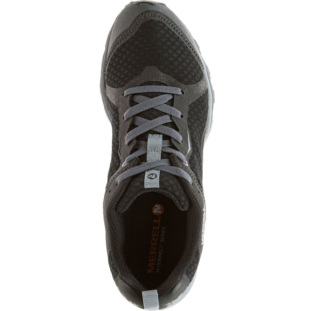 MERRELL Men's All Out Crush Light Trail Running Shoes, Black - BLACK