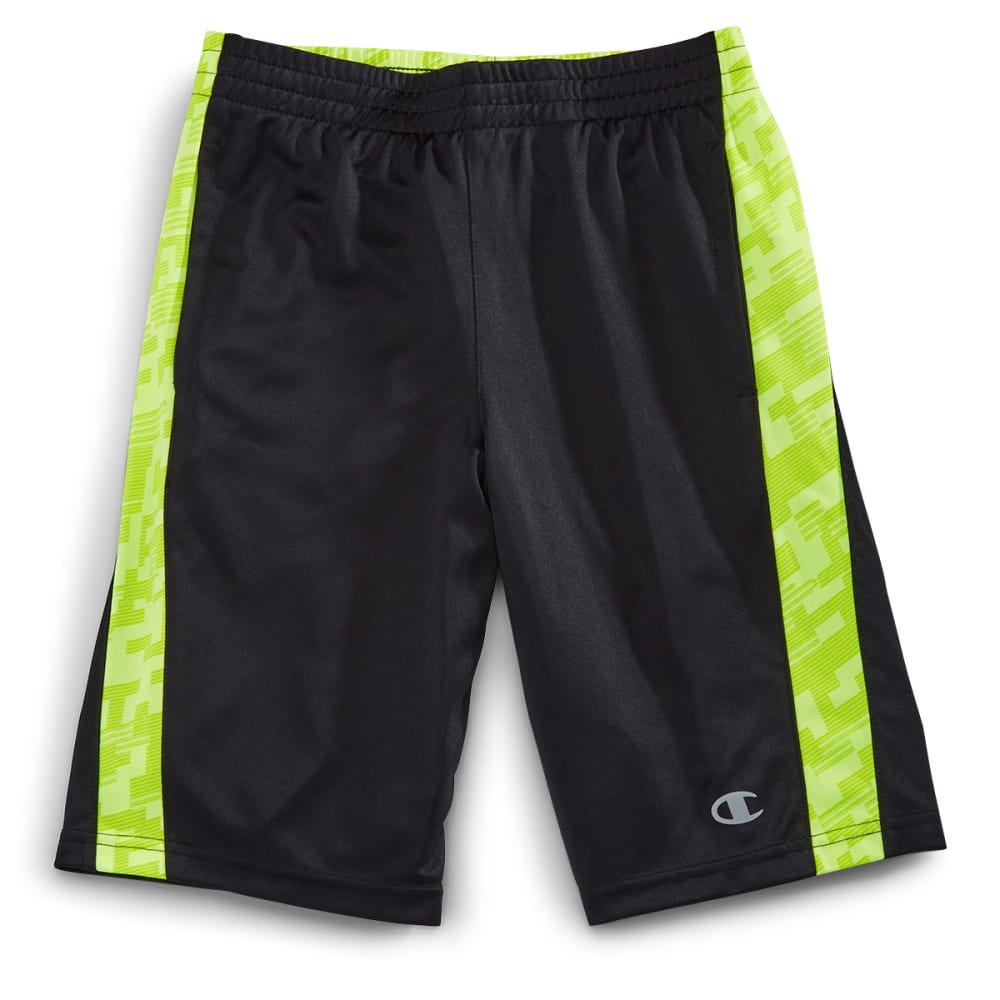 CHAMPION Boys' Circuit Mesh Training Shorts - BLACK-BLK