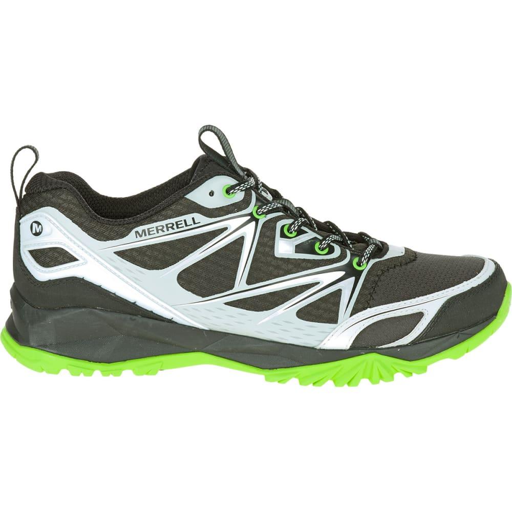 MERRELL Men's Capra Bolt Trail Shoes, Black/Silver - BLACK/SILVER